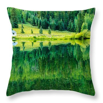 Throw Pillow featuring the photograph Crystal Lake by Jay Stockhaus