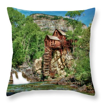 Crystal Mill Crystal Colorado Throw Pillow by Ken Smith