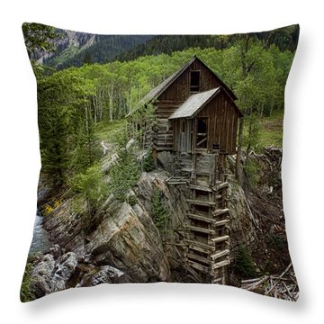 Crystal Mill Throw Pillow