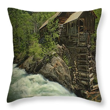 Throw Pillow featuring the photograph Crystal Mill by Priscilla Burgers