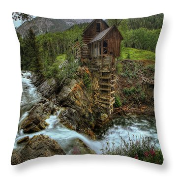 Crystal Mill Riverside Throw Pillow