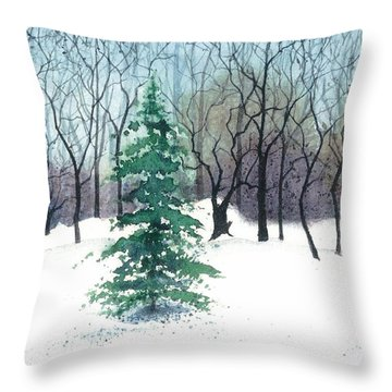 Crystal Morning Throw Pillow by Barbara Jewell