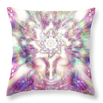 Throw Pillow featuring the painting Crystal Palace by Jalai Lama