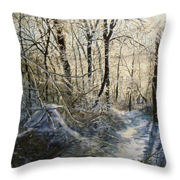 Crystal Path Throw Pillow