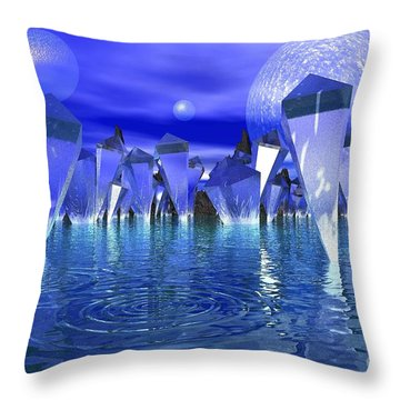 Throw Pillow featuring the photograph Crystal River by Mark Blauhoefer
