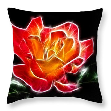 Throw Pillow featuring the photograph Crystal Rose by Mariola Bitner