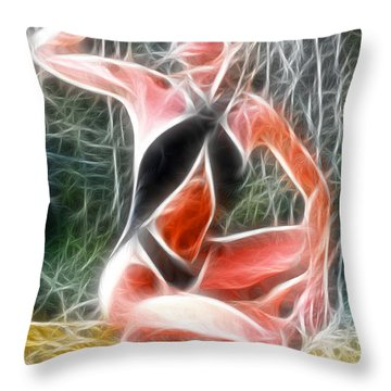 Crystal Sling Fractal Throw Pillow by Gary Gingrich Galleries