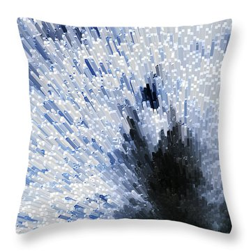 Crystal Star - Black And White Abstract Art By Sharon Cummings Throw Pillow by Sharon Cummings
