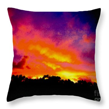 Throw Pillow featuring the photograph Crystal Sunrise by Mark Blauhoefer