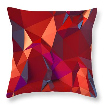 Crystal Volcanic Throw Pillow by Vitaliy Gladkiy