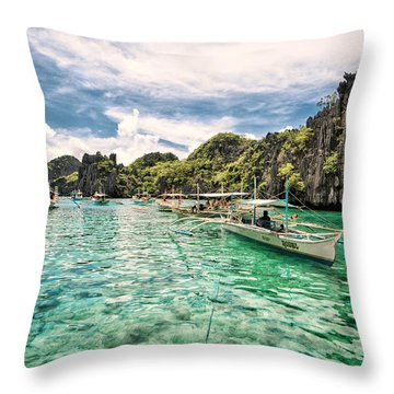 Throw Pillow featuring the photograph Crystal Water Fun Land by John Swartz