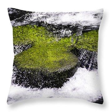 Crystal Water  Throw Pillow by Sotiris Filippou