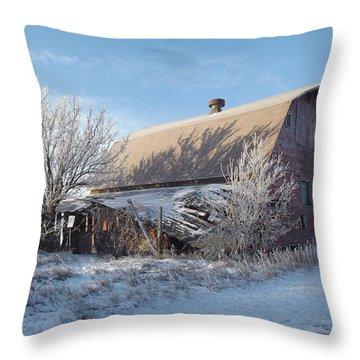 Crystaline Barn Throw Pillow by Bonfire Photography