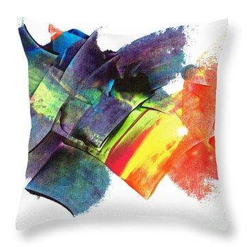 Crystaline Rainbows Throw Pillow