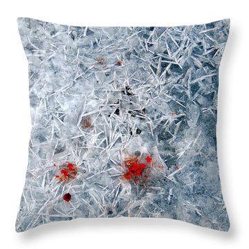 Crystallized Ice Throw Pillow by Marcia Lee Jones
