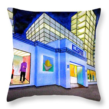 Csm Mall Throw Pillow by Cyril Maza