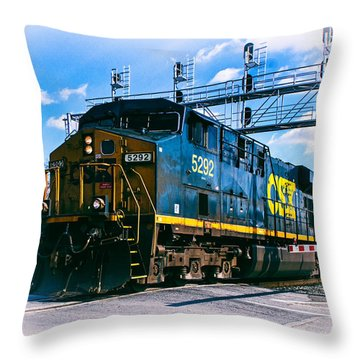 Csx 5292 Warner Street Crossing Throw Pillow