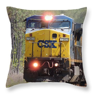 Csx 7363 Throw Pillow