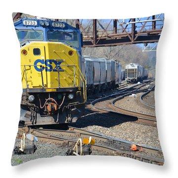 Csx 8733 Throw Pillow by Mike Martin