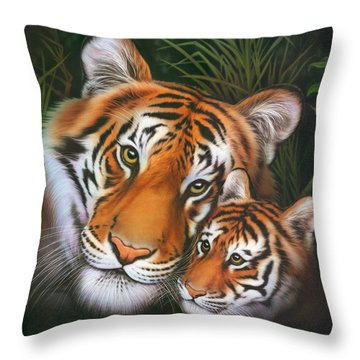African Tiger Throw Pillows
