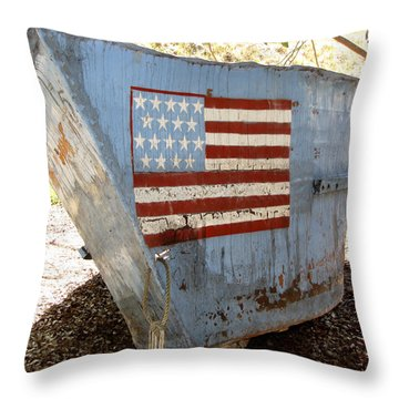Cuban Refugee Boat 4 Throw Pillow