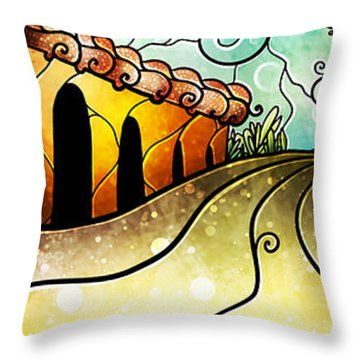 Que Rico Cuban Street Throw Pillow