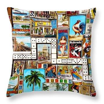 Cubana Throw Pillow by Joseph Sonday