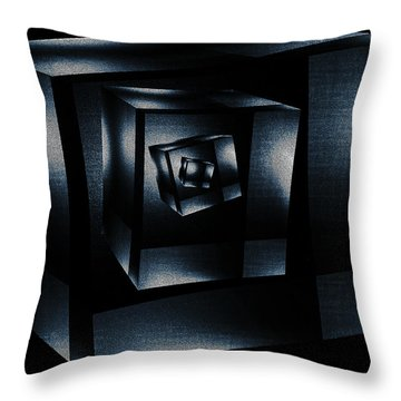 Cube In Cube Throw Pillow by Ramon Martinez