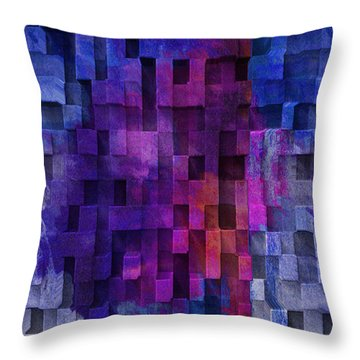Cubed 2 Throw Pillow by Jack Zulli