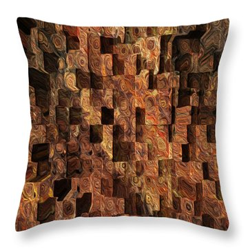 Cubed Throw Pillow by Jack Zulli