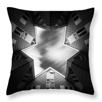 Cubic Star Throw Pillow