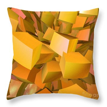 Cubist Melon Burst By Jammer Throw Pillow by First Star Art