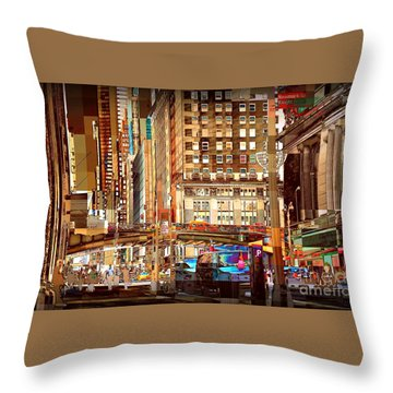 Grand Central And 42nd St Throw Pillow by Miriam Danar