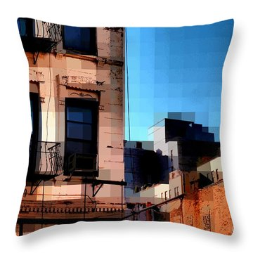Up On The Roof Throw Pillow by Miriam Danar
