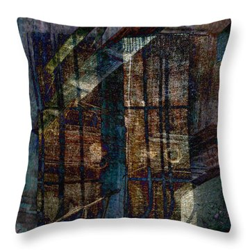 Cubist Shutters Doors And Windows Throw Pillow by Sarah Vernon