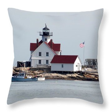 Cuckholds Lighthouse Throw Pillow
