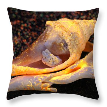 Cuddling Sands Throw Pillow