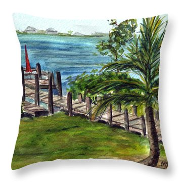 Cudjoe Dock Throw Pillow