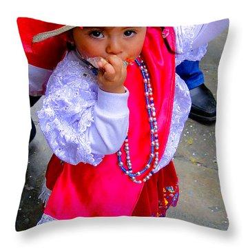 Cuenca Kids 242 Throw Pillow by Al Bourassa