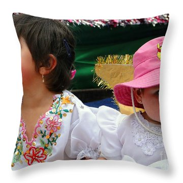 Cuenca Kids 250 Throw Pillow by Al Bourassa