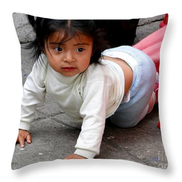 Cuenca Kids 251 Throw Pillow by Al Bourassa