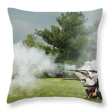 Throw Pillow featuring the photograph Culloden Jacobites by Carol Lynn Coronios