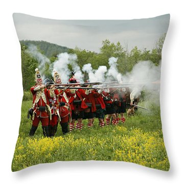 Culloden Loyalists Throw Pillow by Carol Lynn Coronios