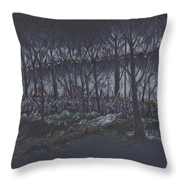 Culp's Hill Assault Throw Pillow