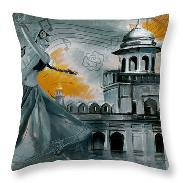 Cultural Dancer 2 Throw Pillow by Catf