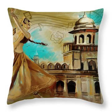 Cultural Dancer Throw Pillow by Catf