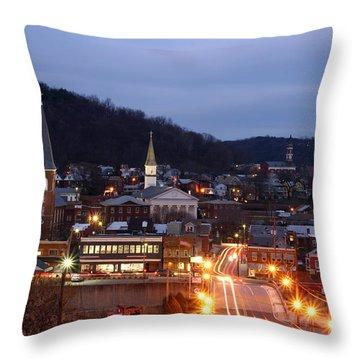 Cumberland At Night Throw Pillow