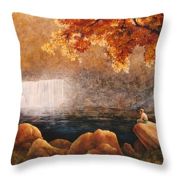 Cumberland Falls Throw Pillow
