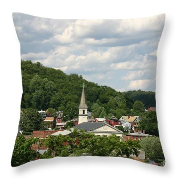 Cumberland Steeples Throw Pillow by Jeannette Hunt