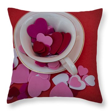 Cup Full Of Love Throw Pillow by Patrice Zinck